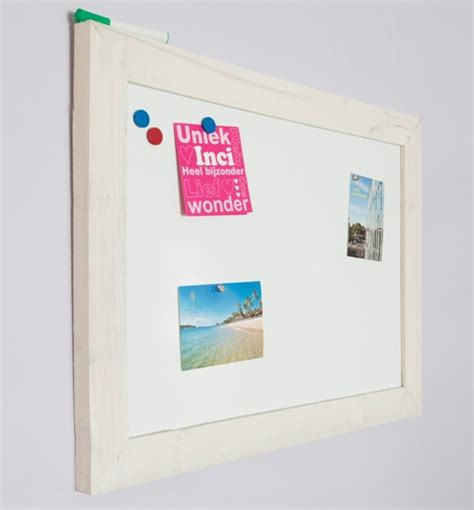 modern whiteboard modern whiteboard 60x80 cm met whitewash steigerhouten