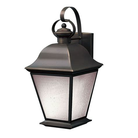 Kichler Outdoor Wall Lighting Shop Kichler Mount Vernon 19 5 In H Olde Bronze Outdoor Wall Light At Lowes