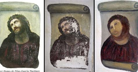 ecce homo spanish edition ancient spanish town where pensioner ruined jesus fresco in hilarious fashion is now tourist