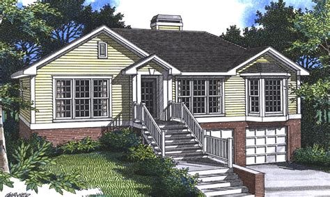 House Plans Garage Under | sundale split level home plan 052d 0008 house plans and more