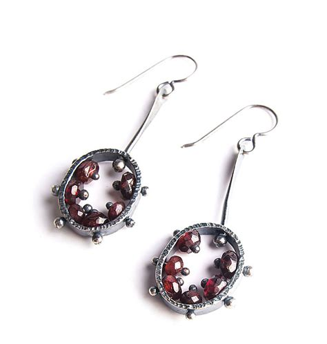 Bailey Earring oval drop earrings by erica stankwytch bailey silver earrings artful home