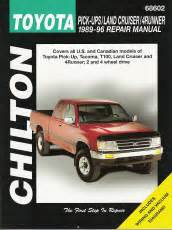total car care repair manuals toyota pick ups land autos post 1989 1996 toyota pick ups land cruiser 4runner chilton total car care manual