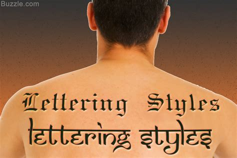 know the tattoo lettering styles and designs for the