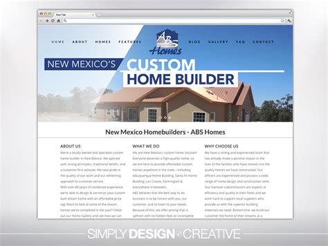 home builder website design home design