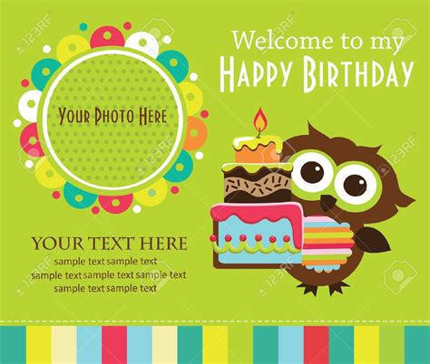 free children s birthday card templates birthday invitation card template for best ideas