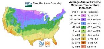 us map growing zones plant hardiness zone map individual state hardiness zone