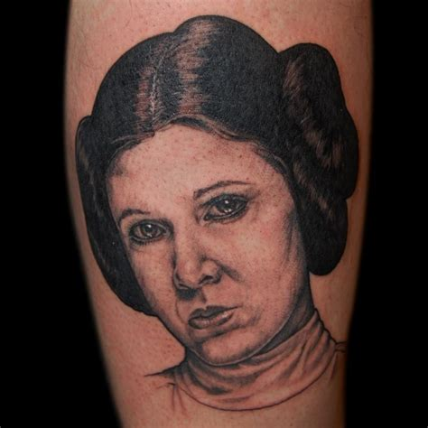 princess leia tattoo princess leia by cbell tattoonow