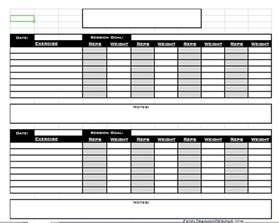 Excel Workout Template by Free Personal Excel Templates Free Exercise