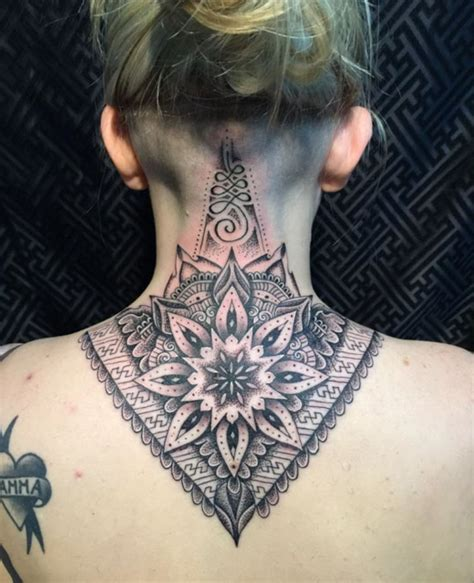 neck back tattoo designs 63 attractive mandala neck tattoos