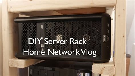 home network cabinet design diy server rack home network vlog youtube
