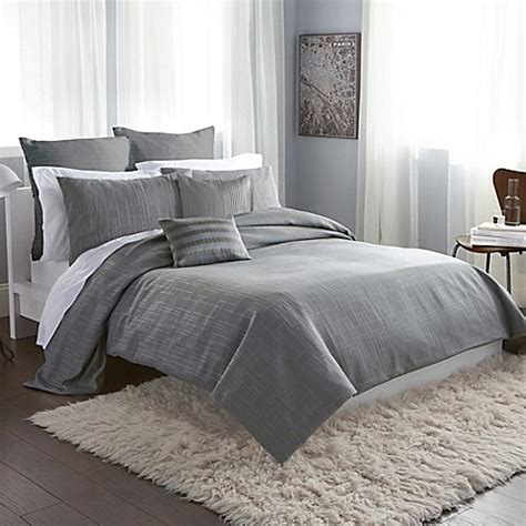 gray comforter cover buy dkny city line king duvet cover in grey from bed bath
