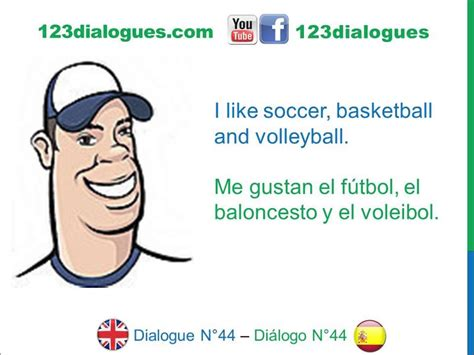 en dilogo con el dialogue 44 ingl 233 s spanish sports hobbies deportes pasatiempos youtube