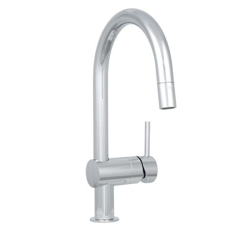 kitchen faucets grohe grohe minta single handle pull sprayer kitchen faucet in starlight chrome 31378000 the