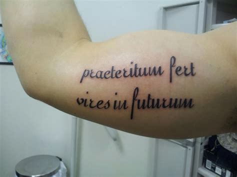 latin quote tattoos my husbands for quot the past brings strength to