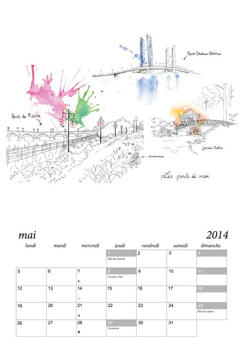 Calendrier Bordeaux Calendrier De Bordeaux 6 Juliebulle Illustration Bordeaux