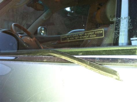 outside rubber window seal replacement club lexus forums