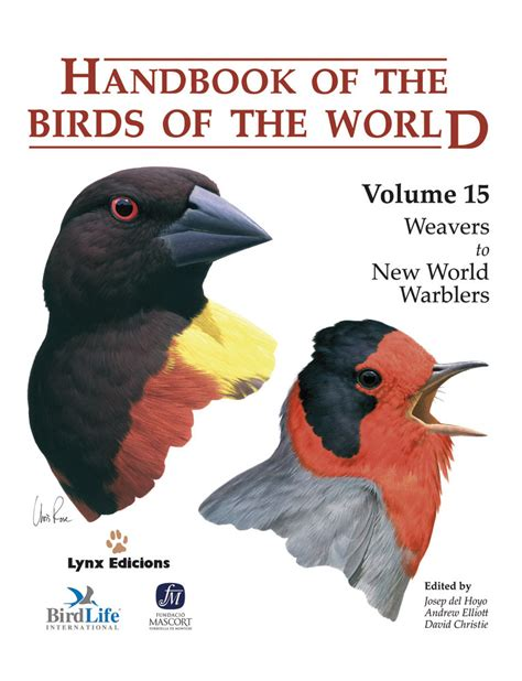 The Of The by Handbook Of The Birds Of The World Volume 15 Lynx Edicions