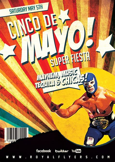 Cinco De Mayo Flyer Template Artistic Life Pinterest Psd Templates Template And Flyer Lucha Libre Poster Template