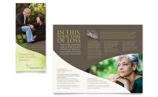 memorial amp funeral program brochure template design