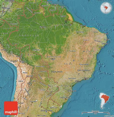 satellite map of brazil satellite map of brazil