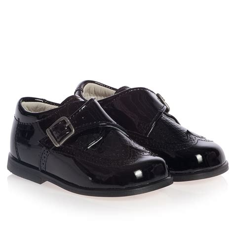 children s classics boys black patent leather shoes