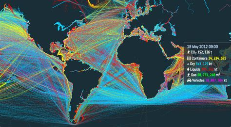 this is an visualization of the world s shipping routes vox
