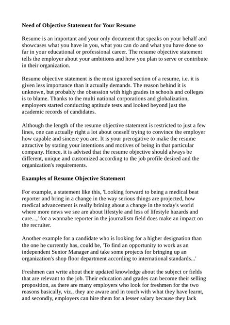statement of career objectives graduate school exle resume objective statement tips
