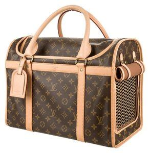 louis vuitton sac chien  dog carrier monogram canvas