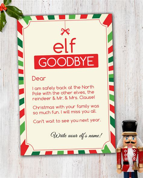 elf on the shelf goodbye letter pdf elf on the shelf magic elf goodbye note