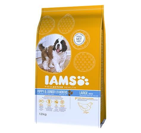 iams puppy large breed iams proactive health puppy junior large breed rich in chicken pet food for cat dogs