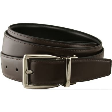 stafford reversible brown black leather dress belt 1 1 8