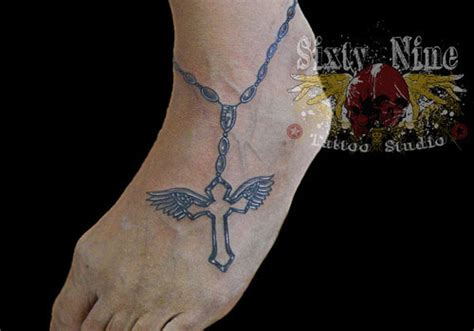 rosary on thigh 35 lovely rosary tattoos creativefan