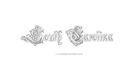 south carolina flag tattoo designs south carolina usa state name designs page 4 of 5