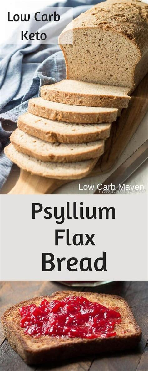 carbohydrates 1 slice bread the best low carb bread recipe with psyllium and flax