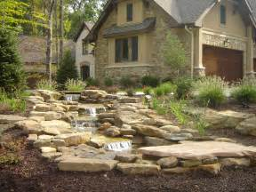 trendy water feature diven from garden landscaping ideas