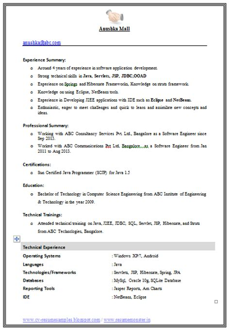 best resume format for engineers in word format 10000 cv and resume sles with free best