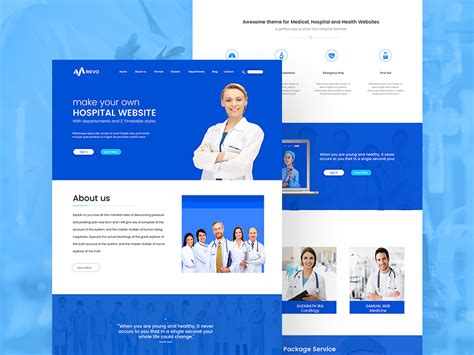 free health website templates website template free doctor and website