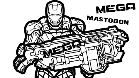 nerf gun coloring pages www imgkid com the image kid