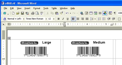 label layout in word print bar code labels using your word processor a barcode