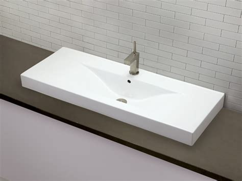 installing a drop in bathroom sink decolav cityview semi recessed vitreous china single hole