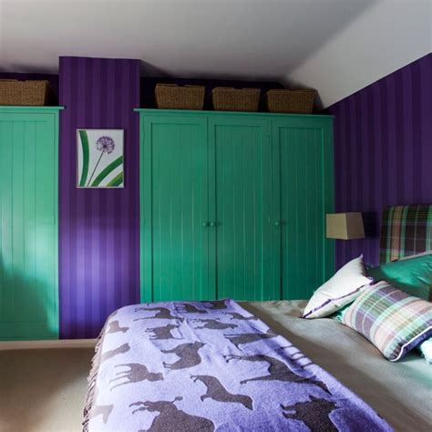 green and purple bedroom colourful bedrooms fitted