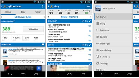 myfitnesspal android myfitnesspal android app gets major update