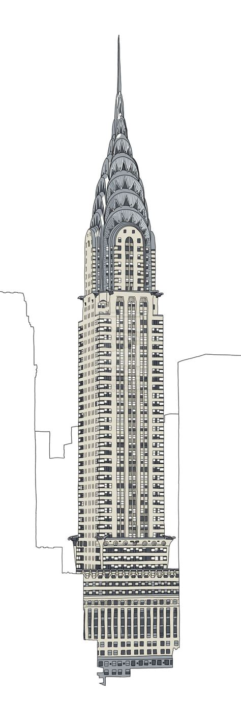 Chrysler Building Drawing by Chrysler Building Drawing Search Gala