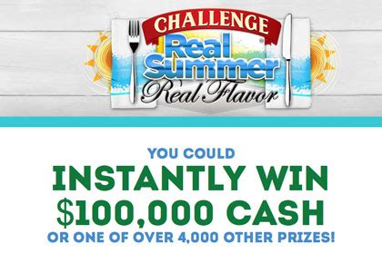 Challenge Butter Sweepstakes - instant win sun sweeps