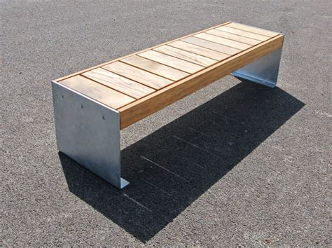 2 plate bench elements plate end benches and seats timber and steel