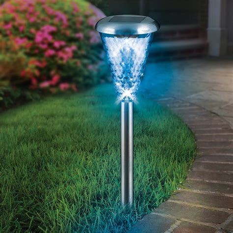 Bunnings Lights Outdoor Lytworx Led Colour Change Pathlight Stainless Steel Bunnings Warehouse