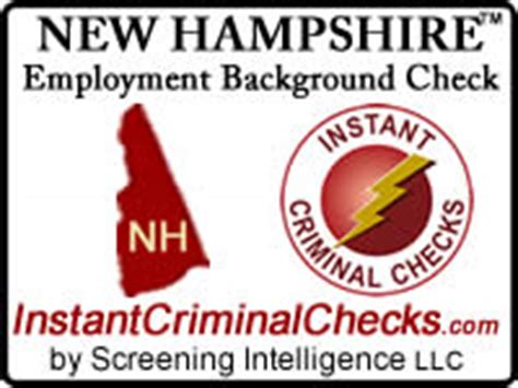 New Employee Background Check New Hshire Employment Background Check Nh Criminal Data
