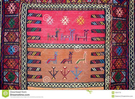 turkish carpet with pattern stock photo image 7634770