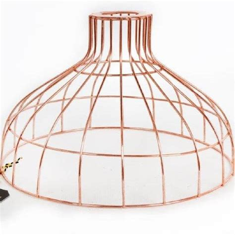 A Shade Of Vire 7 copper parasol wire pendant light shade by frolic and