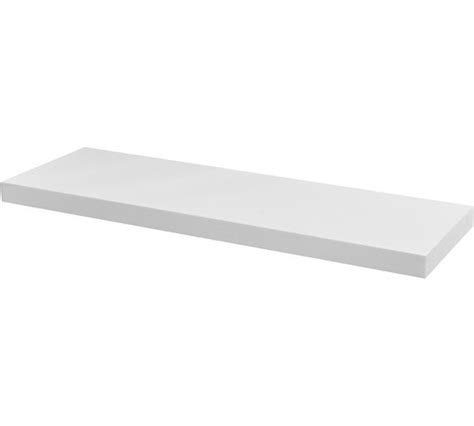 buy collection high gloss 80cm floating shelf white